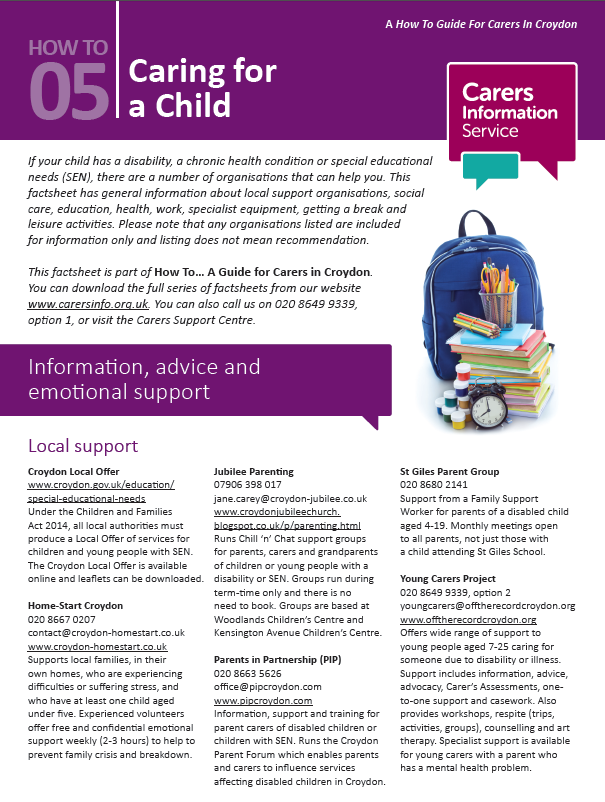 Caring for a Child Booklet