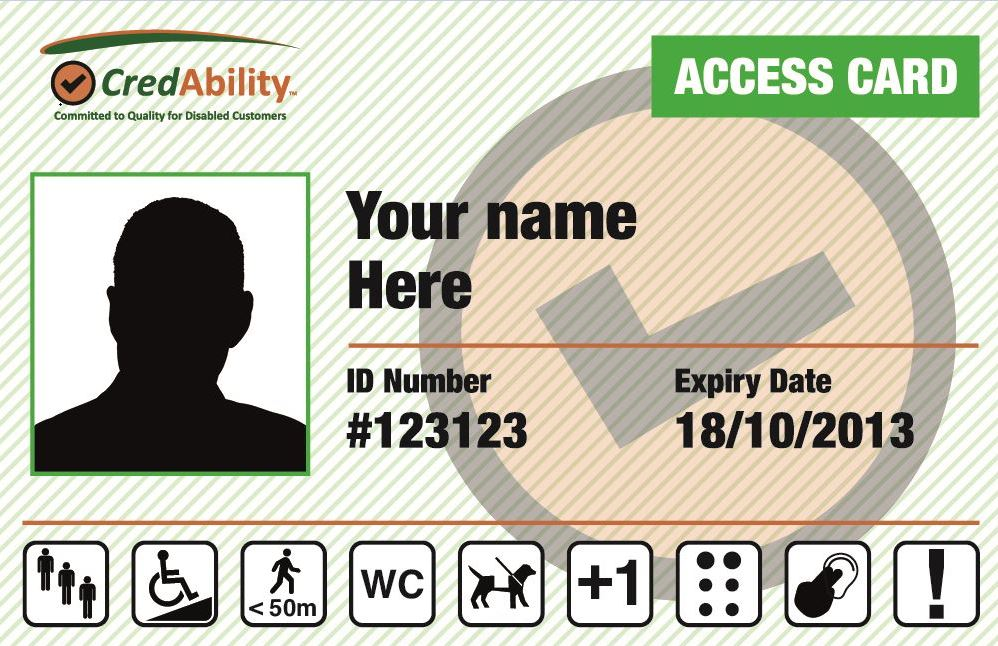 Free Access Card for people with Disabilities